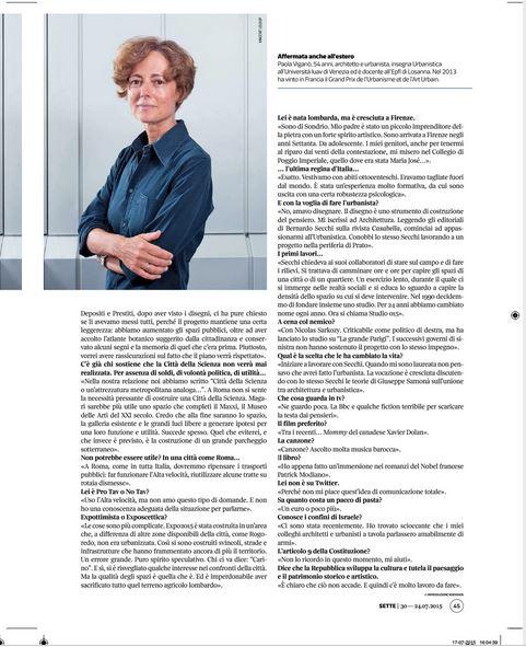 sette magazine 24 luglio 2015.JPG articolo pag.2 JPG